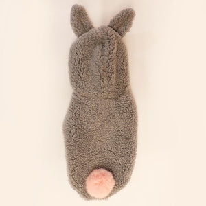 Load image into Gallery viewer, Ears Up! Sleeveless Bunny Dog Hoodie in Grey