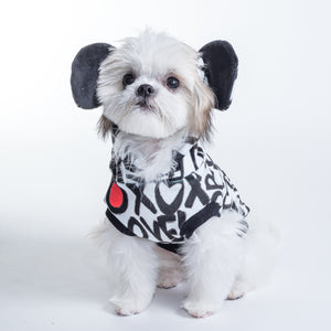 Le Chien Bleu Hipster Mouse sleeveless dog top on model Tilly by Fetch Shops