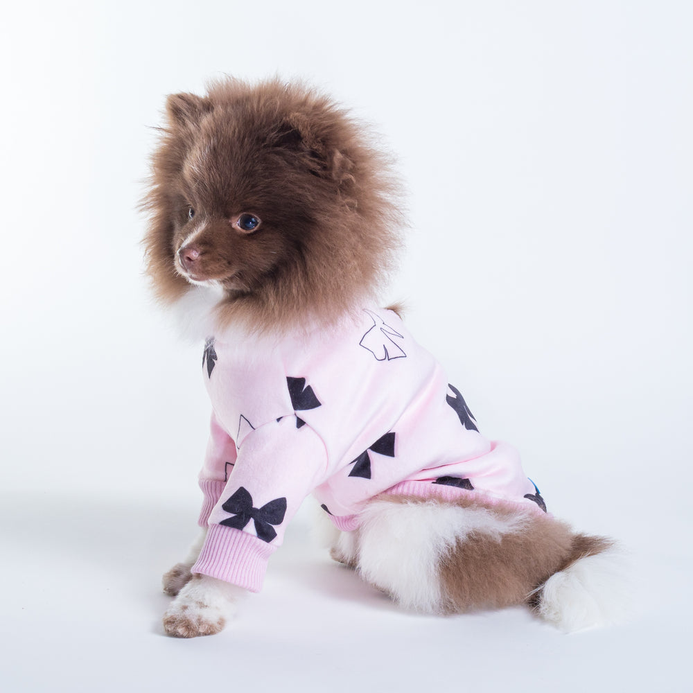 Le Chien Bleu Ribbon Dog Top on Model Nugget by Fetch Shops
