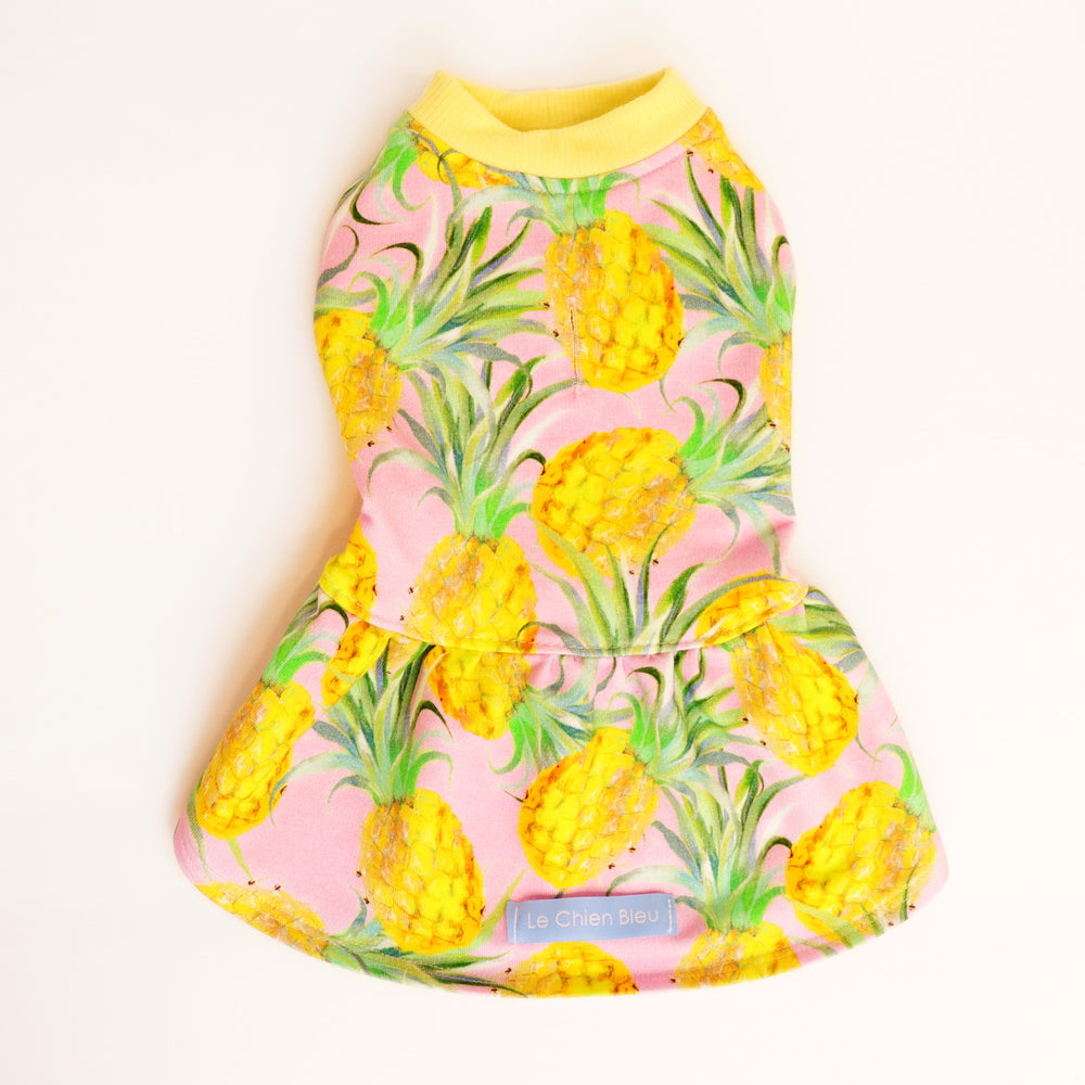 Le Chien Bleu Pineapple Dog Sundress Back by Fetch Shops
