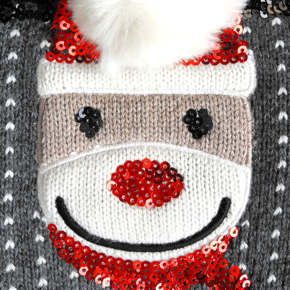 Load image into Gallery viewer, Sparkle Reindeer Turtleneck Dog Sweater