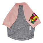 Mom Tattoo Raglan Style Tee in Pink