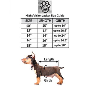 Night Vision Reflective Dog Jacket