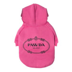 Pawda Dog Hoodie in Hot Pink