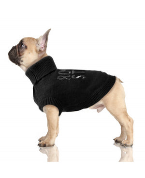 Rock Star Sequin Dog Sweater in Black