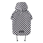 Checkered Flag Reflective Dog Raincoat