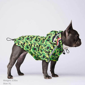 Load image into Gallery viewer, Shark Monster Reflective Dog Raincoat