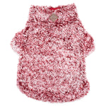 Wubby Fleece Dog Pullover in Cranberry