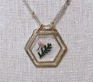 "The Anderson Necklace - sweet little fern (16"")"