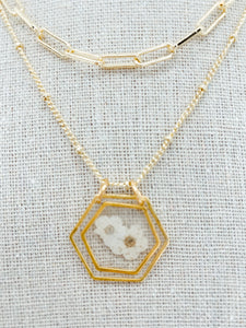 "The Anderson Layering Necklace -Tiny Whites (16"")"