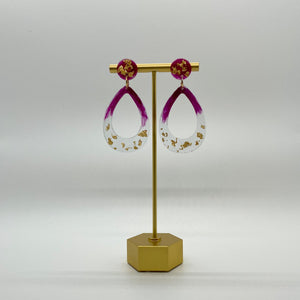 Luxe Waverly - Bordeaux & Gold Earrings