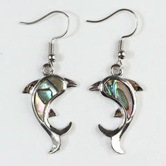 Dolphin Abalone Shell Earrings - Reiki-charged