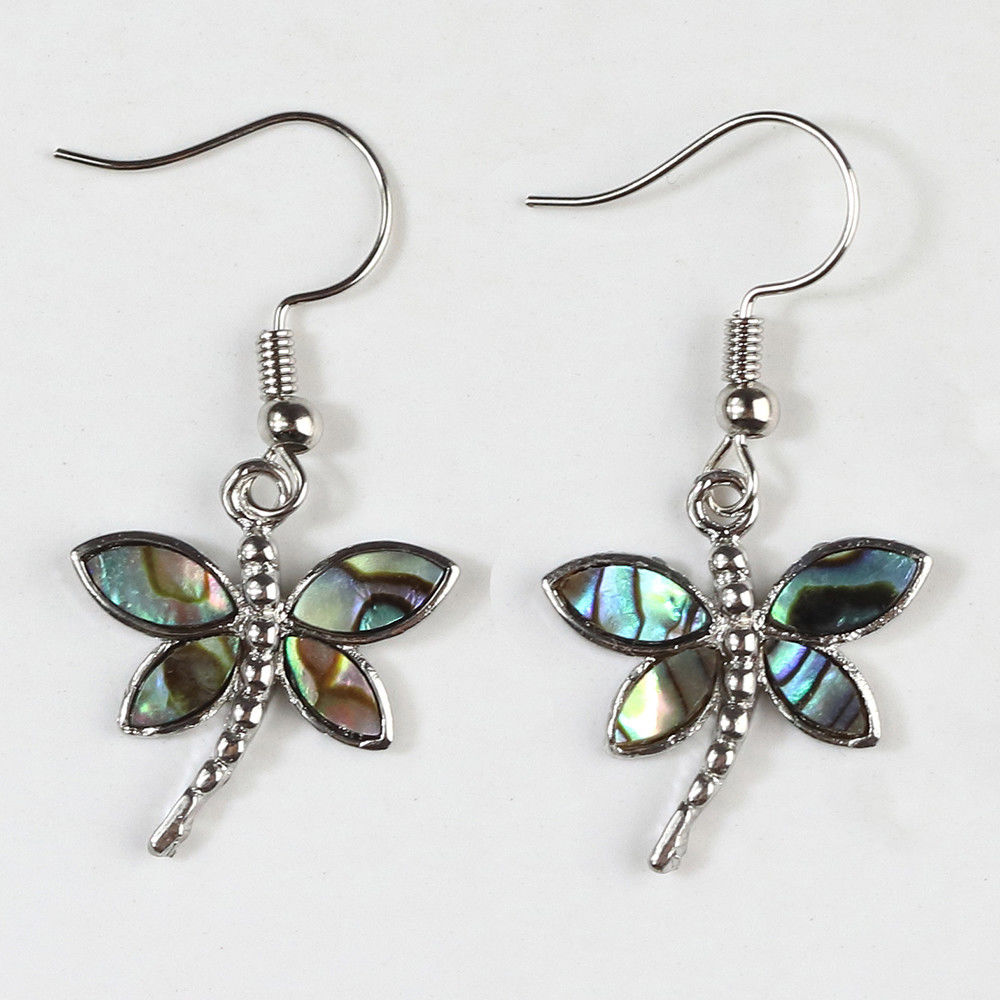 Abalone Shell Firefly Earrings