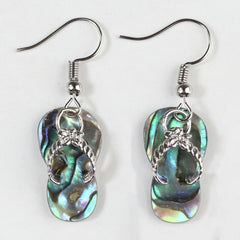 Beach Sandals Abalone ShellDangle Earrings