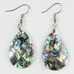 Teardrop Abalone Earrings - Reiki-charged