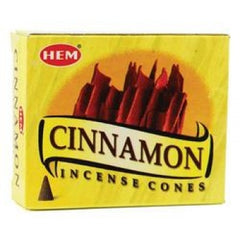 Cinnamon Incense Cones by HEM ~ Small Rose Quartz included in box