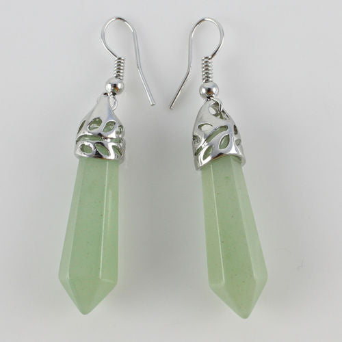 Green Aventurine Drop Earrings ~ Reiki-Charged