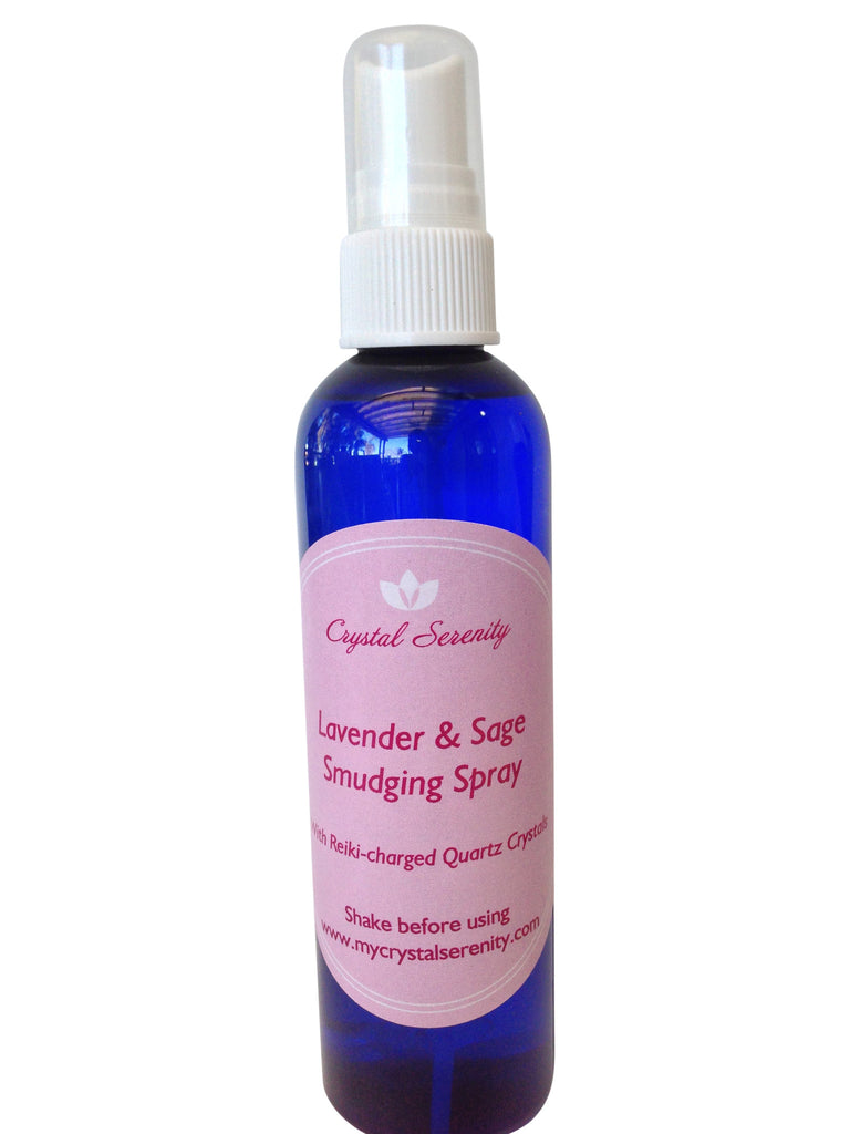 White Sage Spray: Lavender & Sage Smudging Spray - Reiki-charged