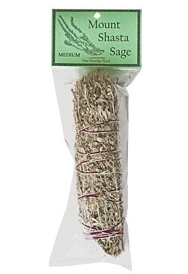 "CLEARANCE ~ Mount Shasta Sage Smudge 6.5"" Length (Medium)"