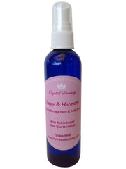 Peace & Harmony Aromatherapy Spray - with Rose Quartz Crystals ~ Reiki-charged