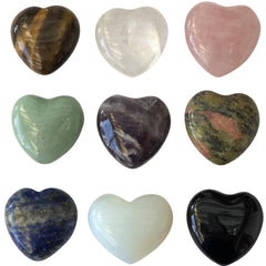 Puffy Crystal Hearts ~ Pocket Stones - Reiki-Charged
