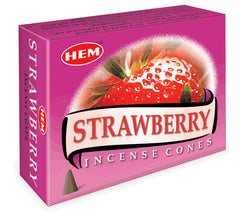 Strawberry Incense Cones by Hem
