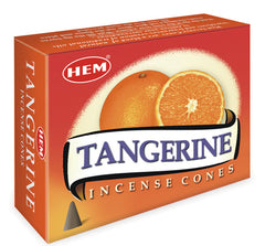 Tangerine Incense Cones by HEM ~ Small Rose Quartz in Box