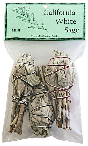 "California White Sage Smudge 4"" Length Mini (Pack of 3)"