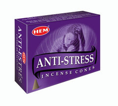 Anti-Stress Cone Incense by HEM~ Small Rose Quartz included in Box