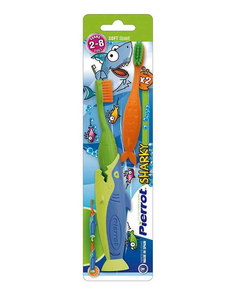 PIERROT SHARKY X2 KIDS TOOTHBRUSH (2 - 8 YEARS)