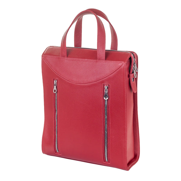 Tote Style Backpack - Red Pebble