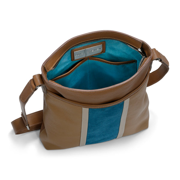 Tablet Messenger - Taupe/Blue