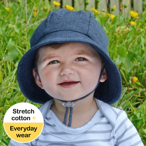 Toddler Bucket Hat - Denim UPF50+