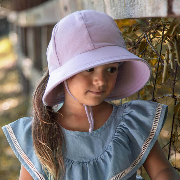Ponytail Bucket Sun Hat - Lilac