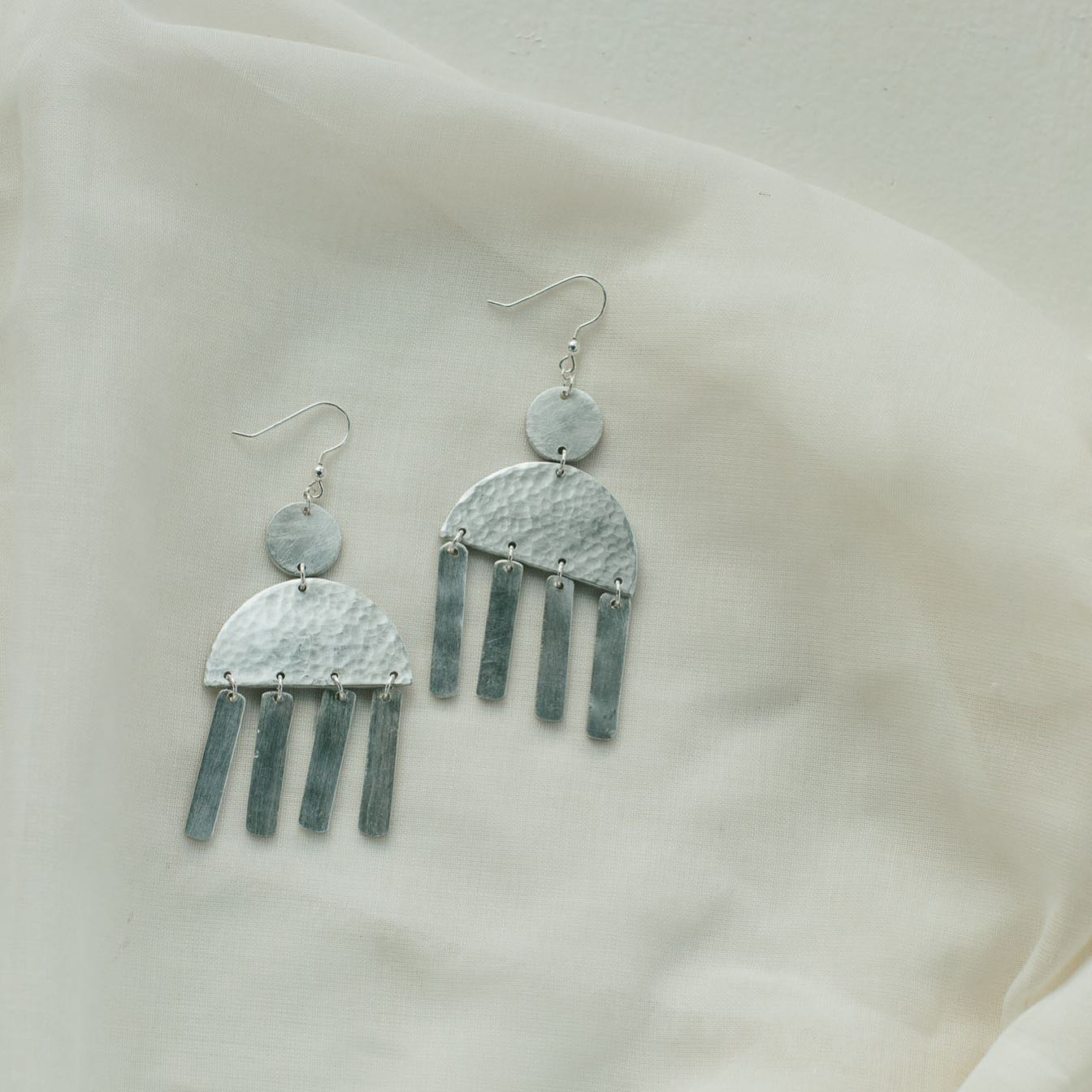 Aluminum Chandelier Earrings