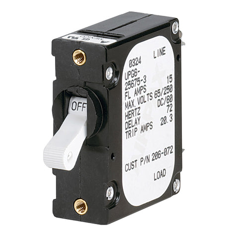 Paneltronics 'A' Frame Magnetic Circuit Breaker - 15 Amps - Single Pole [206-072S]