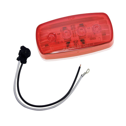 Wesbar LED Clearance/Side Marker Light - Red #58 w/Pigtail [401586KIT]