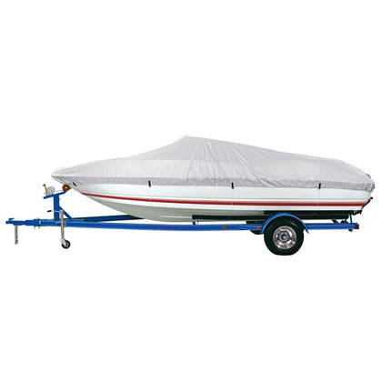"Dallas Manufacturing Co. Reflective Polyester Boat Cover A - Fits 14'-16' V-Hull Fishing Boats - Beam Width to 68"" [BC1301A]"