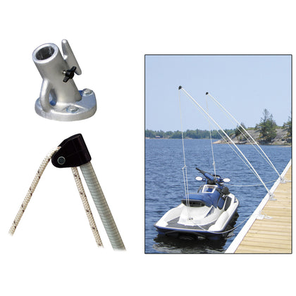 Dock Edge Economy Mooring Whips 2PC 12ft 4000 LBS up to 23 ft [3120-F]