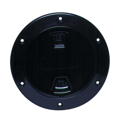 "Beckson 4"" Smooth Center Screw-Out Deck Plate - Black [DP40-B]"