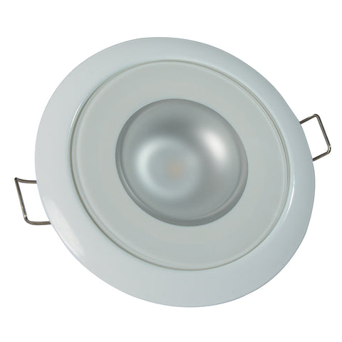 Lumitec Mirage - Flush Mount Down Light - Glass Finish/White Bezel - 3-Color Red/Blue Non-Dimming w/White Dimming [113128]
