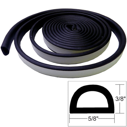 "TACO Weather Seal - 10'L x 3/8""H x ""W - Black [V30-0109B10-1]"
