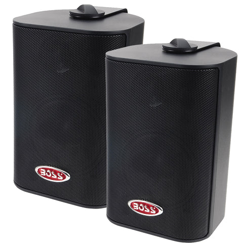 "Boss Audio MR4.3B 4"" 3-Way Marine Box Speakers (Pair) - 200W - Black [MR4.3B]"