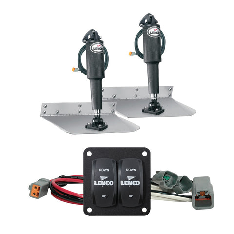"Lenco 9"" x 12"" Standard Trim Tab Kit w/Double Rocker Switch [15101-104]"