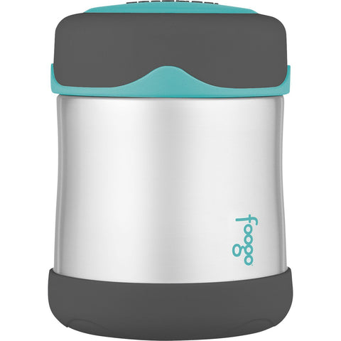 Thermos Foogo Stainless Steel, Vacuum Insulated Food Jar - Teal/Smoke - 10 oz. [B3004TS2]