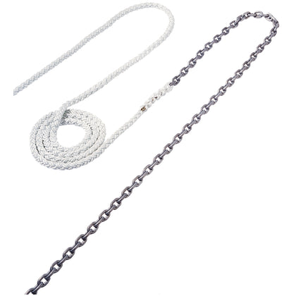 "Maxwell Anchor Rode - 15'-5/16"" Chain to 150'-5/8"" Nylon Brait [RODE52]"