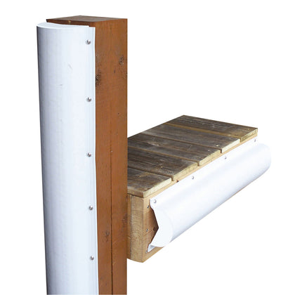 Dock Edge Piling Bumper - One End Capped - 6' - White [1020-F]
