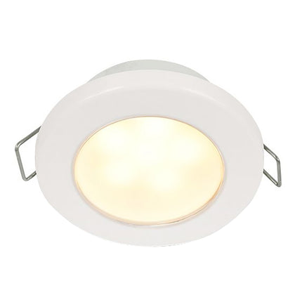 "Hella Marine EuroLED 75 3"" Round Spring Mount Down Light - Warm White LED - White Plastic Rim - 12V [958109511]"