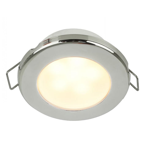 "Hella Marine EuroLED 75 3"" Round Spring Mount Down Light - Warm White LED - Stainless Steel Rim - 24V [958109621]"