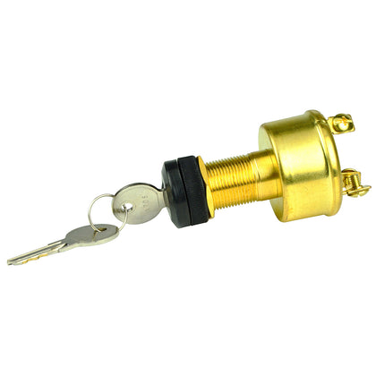 BEP 3-Position Brass Ignition Switch - OFF/Ignition/Start [1001606]
